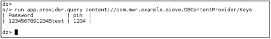 DB Content Provider or Keys